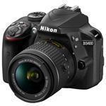 Bundle / Digital Slr Camera D3400 Kit 24.2 Mpix With Af P 18-55 Vr + 16GB Sdhc + Carrying Bag