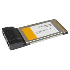 Pc Card Adapter 2 Port Cardbus Laptop USB 2.0