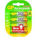 GP Battery Rechargeable 4x NiMH 2700mAh AA