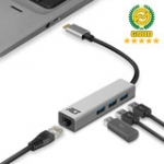 USB-C Hub and Ethernet Adapter 3x USB A female / 1 Gigabit network port