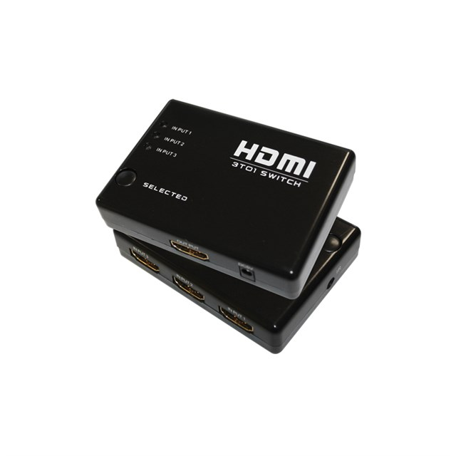 Hdmi 3x1 Switch - 1080p - Ir Remote Control + Power Supply