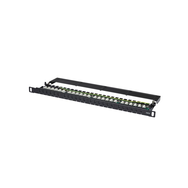 DIGITUS Patchpanel CAT6 Unshielded 24-port With Shutter - Black