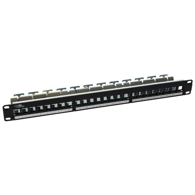 Keystone 24-port Patchpanel Empty With Bar Support Ftp/utp
