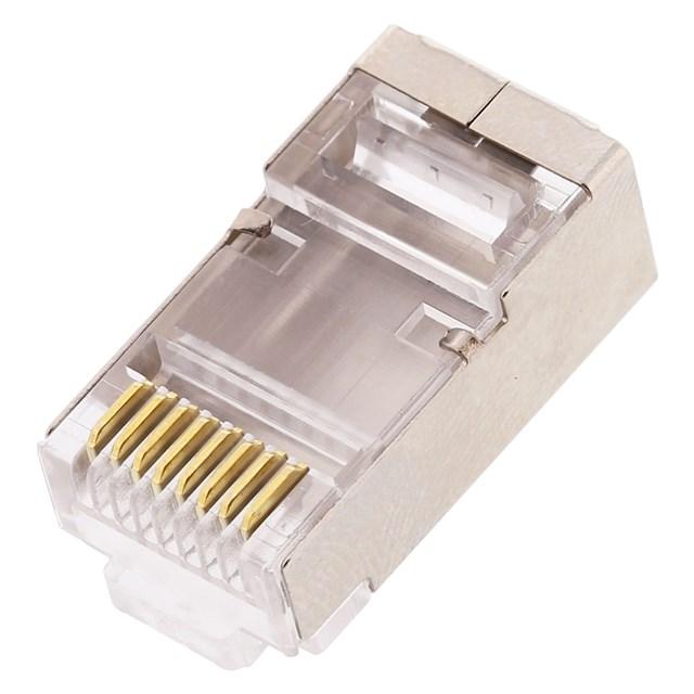 Rj45 CAT6a Shielded Connectors W/guide Solid 100 Pcs