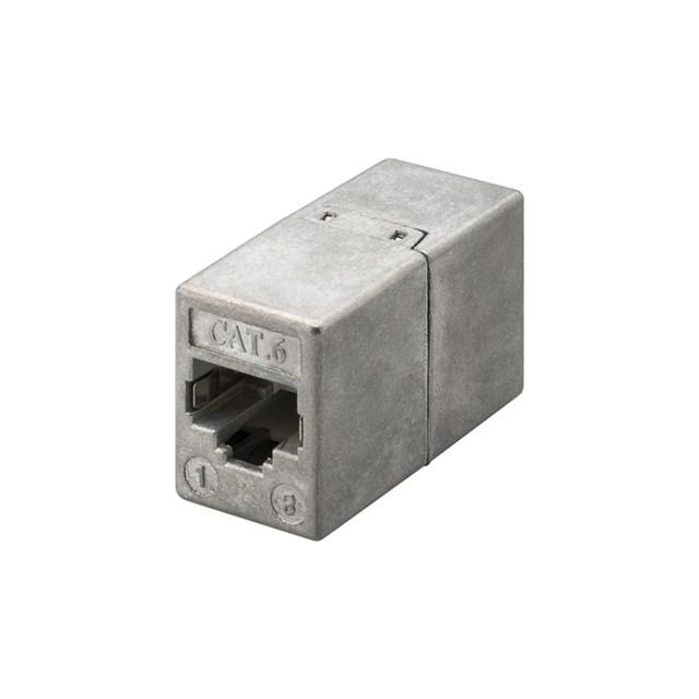 Rj45 Adapter Full Metal Housing Fem / Fem CAT6